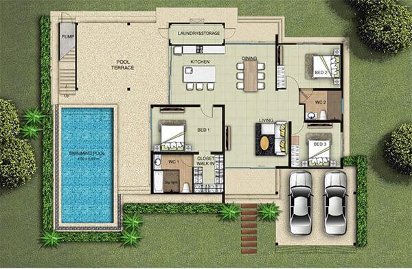 Plan villa A
