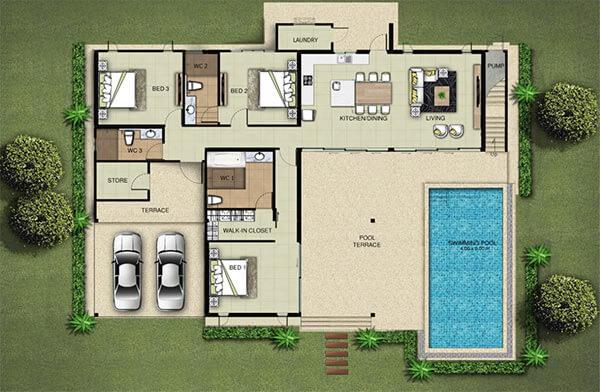 Plan villa C