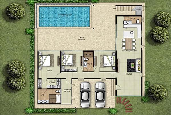 Plan villa B