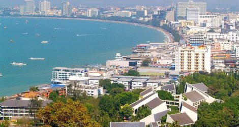 Pattaya city view from Thai Property Group project
