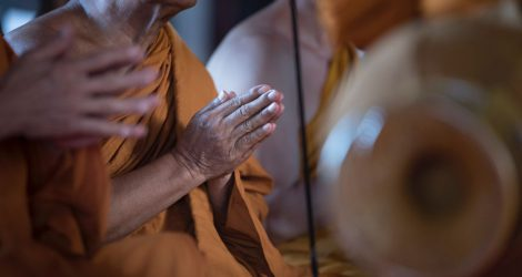 Meditating Monks in Thailand