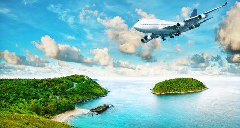 Avion au dessus de paysages magnifiques